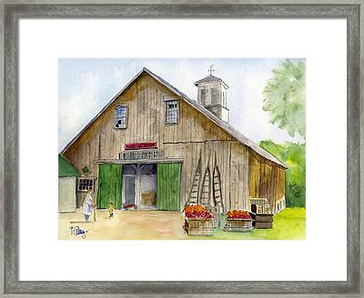 Poverty Farms Orchard Framed Print by Paul Cummings