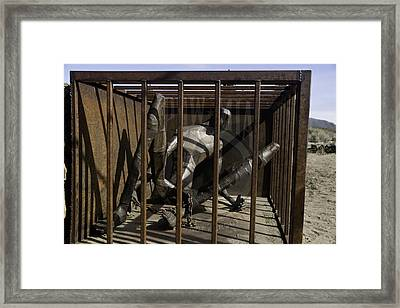 Framed Print featuring the photograph Pow-mia  by Betty Depee