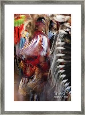 Framed Print featuring the photograph Pow Wow Dancer by Vivian Christopher