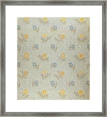 Powdered Framed Print by Wiliam Morris