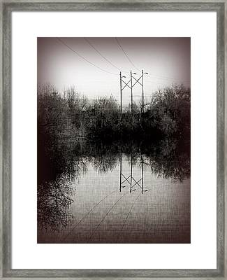 Power Framed Print by Bonnie Bruno