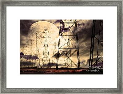 Power Grid Framed Print by Wingsdomain Art and Photography