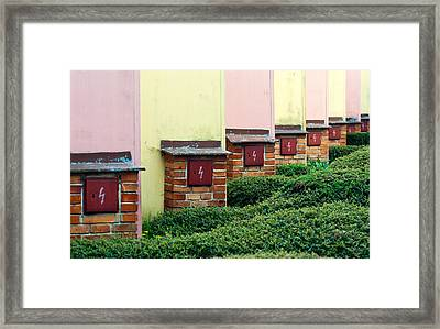 Power Line Framed Print by Miha Pavlin