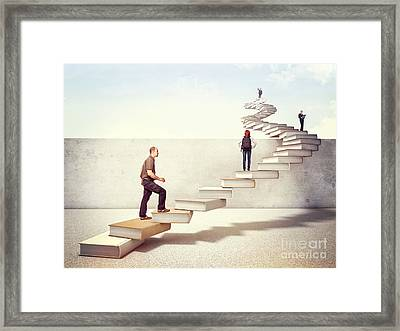 Power Of Books Framed Print by Gualtiero Boffi