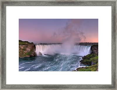 Power Of Horseshoe-niagara Falls Framed Print