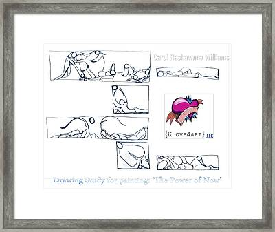 Power Of Now Study Framed Print by Carol Rashawnna Williams