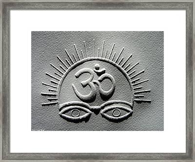 Power Of Om Framed Print by Suhas Tavkar