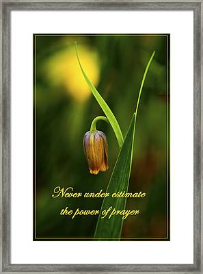 Power Of Payer Framed Print