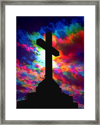 Power Of The Cross Framed Print