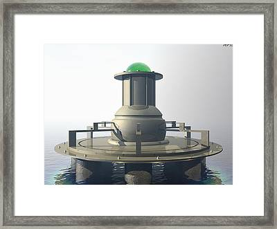 Framed Print featuring the digital art Power Platform by Phil Perkins