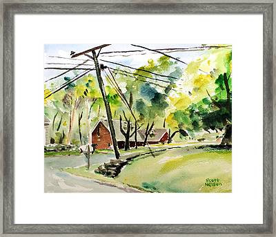 Power Pole Framed Print