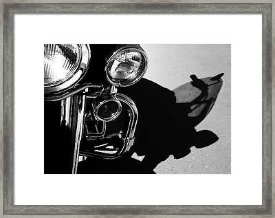 Power Shadow - Harley Davidson Road King Framed Print by Steven Milner