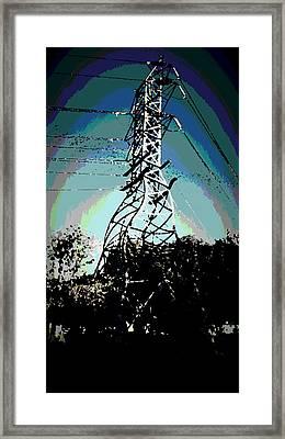 Power Tower Melting Framed Print by David Alvarez