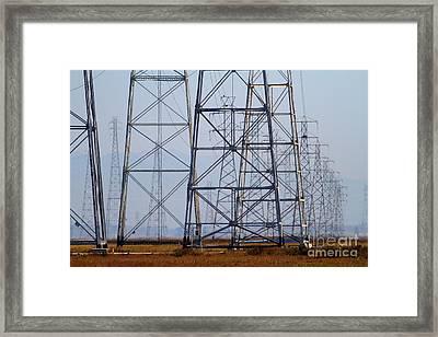 Power Transmission Towers . 7d8802 Framed Print