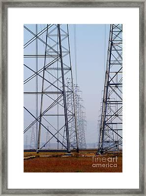 Power Transmission Towers . 7d8804 Framed Print