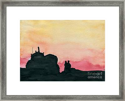 Power Visit Framed Print by R Kyllo