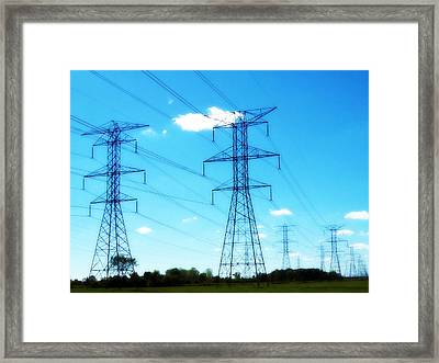Power Walking Framed Print by MJ Olsen