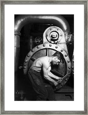 Powerhouse Mechanic Framed Print by Lewis Wickes Hine