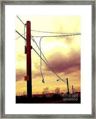 Powerline Framed Print by Silvie Kendall
