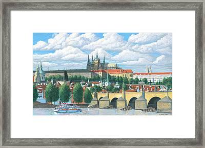 Prague And The St. Charles Bridge Framed Print by Patrick Funke