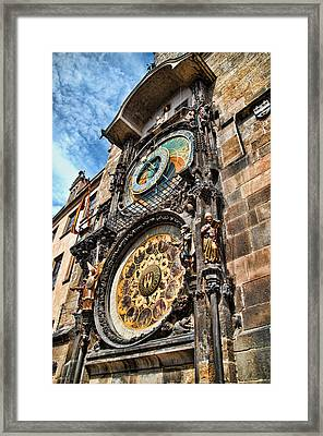 Prague Astronomical Clock Framed Print by Jon Berghoff
