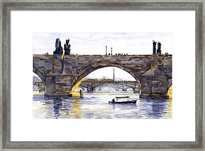 Prague Bridges Framed Print by Yuriy  Shevchuk