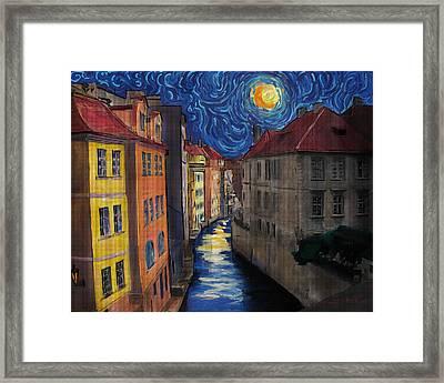 Prague By Moonlight Framed Print by Jo-Anne Gazo-McKim
