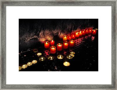 Prague Church Candles Framed Print