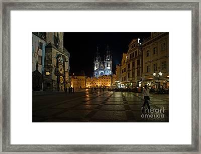 Prague City Square Framed Print