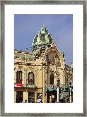 Prague Obecni Dum - Municipal House Framed Print by Christine Till