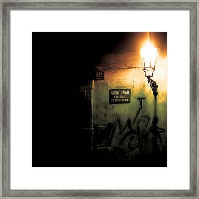 Prague Street Light Framed Print by Chris Giles