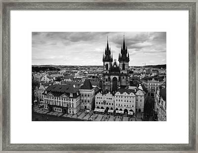 Prague Tyn Church Framed Print