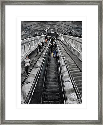 Prague Underground Framed Print by Barry Rothstein