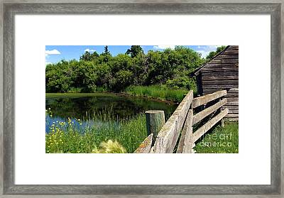 Framed Print featuring the photograph Prairie Pond by Jim Sauchyn