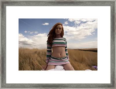 Prairie Sky Framed Print