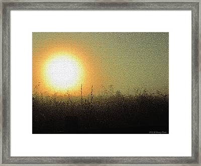 Framed Print featuring the photograph Prairieland Preservation by Penny Hunt