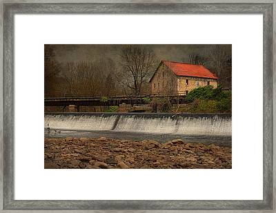 Prallsville Grist Mill And The Spillway Framed Print