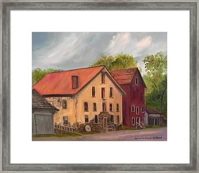 Prallsville Mills Stockton Framed Print by Aurelia Nieves-Callwood