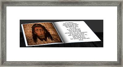 Prayer Book Framed Print