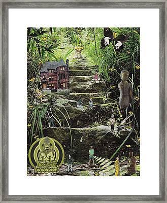 'prayer' Collage Framed Print