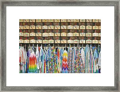 Prayer Plaques & Origami Cranes Framed Print by Rob Tilley