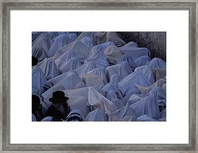 Prayer Shawls Cloak Cohanim Blessing Framed Print by Karen Kasmauski