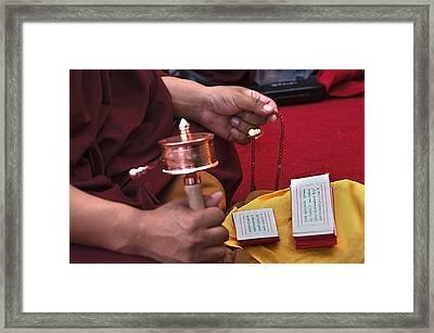 Prayer Time Framed Print by Mukesh Srivastava