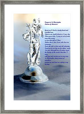 Prayer To St Christopher Framed Print by Maria Urso