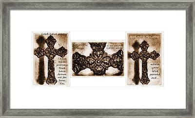 Prayer Triptych 2 Framed Print