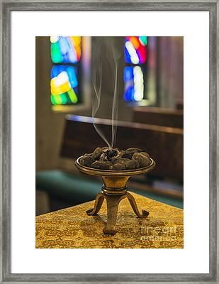 Prayers Rise Like Incense Framed Print