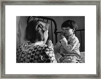 Prayers With Mum Framed Print