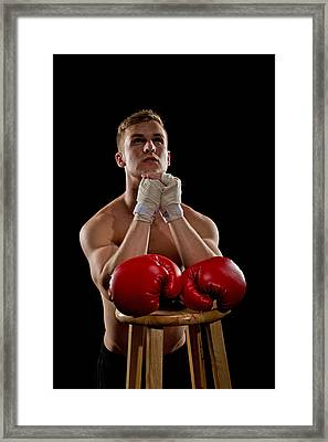 Praying Boxer Framed Print by Jim Boardman