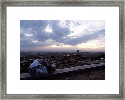Praying To God Framed Print