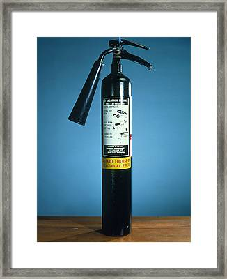 Pre-1997 Uk Co2 Fire Extinguisher Framed Print by Andrew Lambert Photography